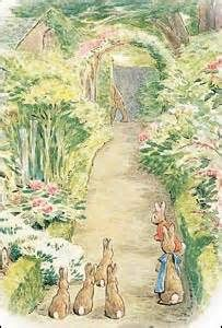 mr mcgregors garden illustration tea at hilltop farm