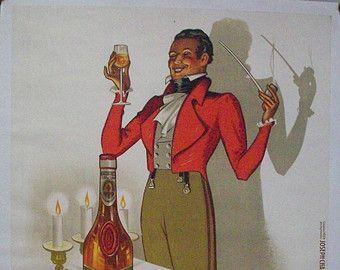 ORIGINAL Vintage Armagnac Chateau Larressingle Poster