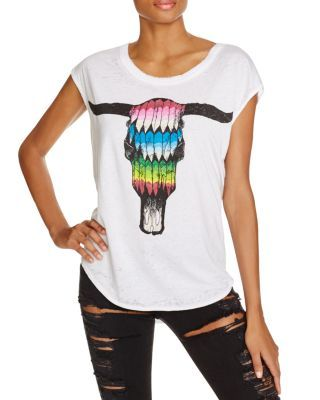 3f23a247 CHASER Bull Head Graphic Tee | Bloomingdale's | Curvy Too | Women ...