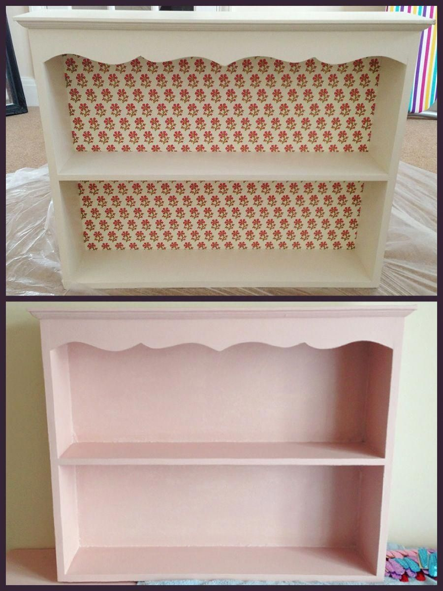 Diy Project As Much As I Loved My White Shabby Chic Shelves It Didn T Match My Desk Nor Did The Floral Backing Match My Flor Interni Casa Interni Cose Da Fare