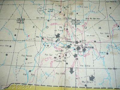 Map Vietnam War Special Forces Kontum Macv Sog Ccc Macv Sog