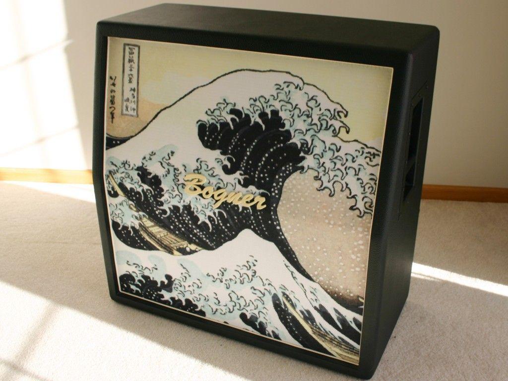 Custom Guitar Speaker Cabinets Great Wave Off Kanagawa Cab Grillclothe Music Gear I Need