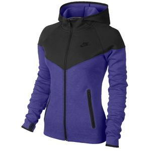 Nike Tech Fleece Full Zip Hoodie - Women s - Black Purple Haze Black ... 10f8715d4