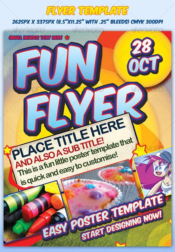 Fun Flyer Template Flyer template Template and Print templates