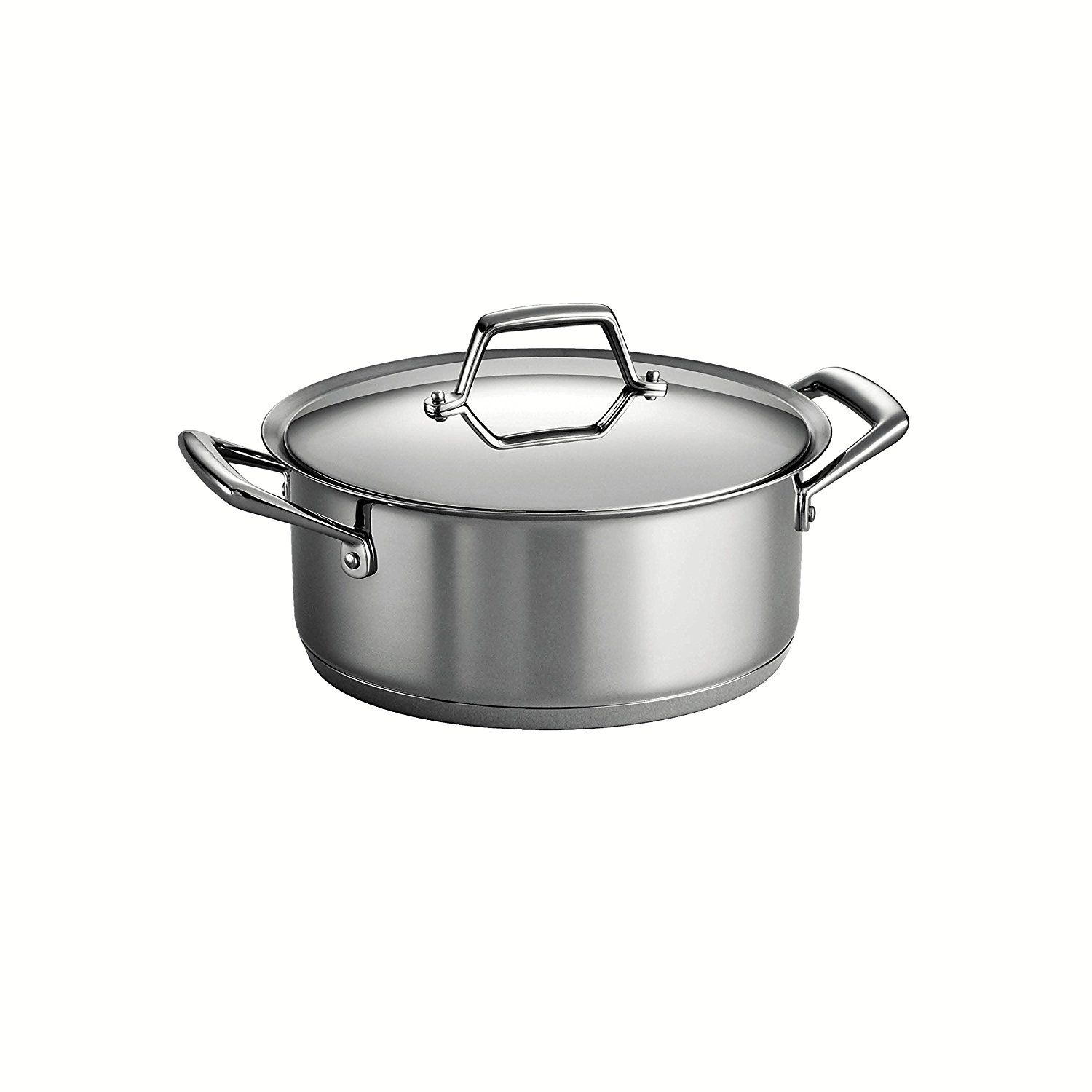 Tramontina Gourmet Prima 18/10 Stainless Steel Tri-Ply Base Covered Sauce Pot, 6-Quart, Silver ** You can find out more details at the link of the image.