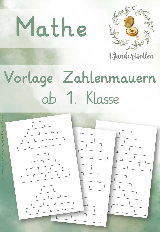 Arbeitsblatt Vorlage Rechenmauern 3 Bausteine