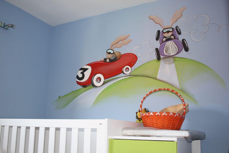 Carrera de coches de carreras para ni os inspiracion - Decorar paredes ninos ...