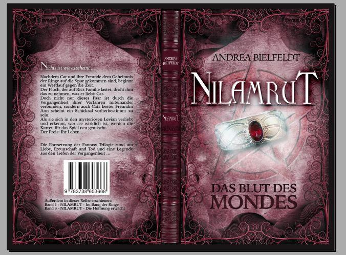 Und auch das #Taschenbuch erstrahlt in neuem Glanz! Cover ©Traumstoff #Nilamrut - Das Blut des Mondes #AndreaBielfeldt #Trilogie #Fantasy #Buchhandel #Print
