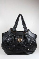 This Authentic Versace Black Leather Handbag Comes Directly From Designer Boutiques 1 95 Versace Handbags Black Leather Handbags Latest Designer Handbags