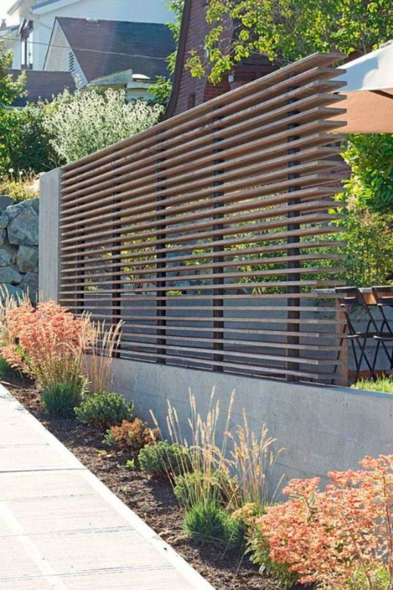 Awesome Modern Front Yard Privacy Fences Ideas 42 Modern