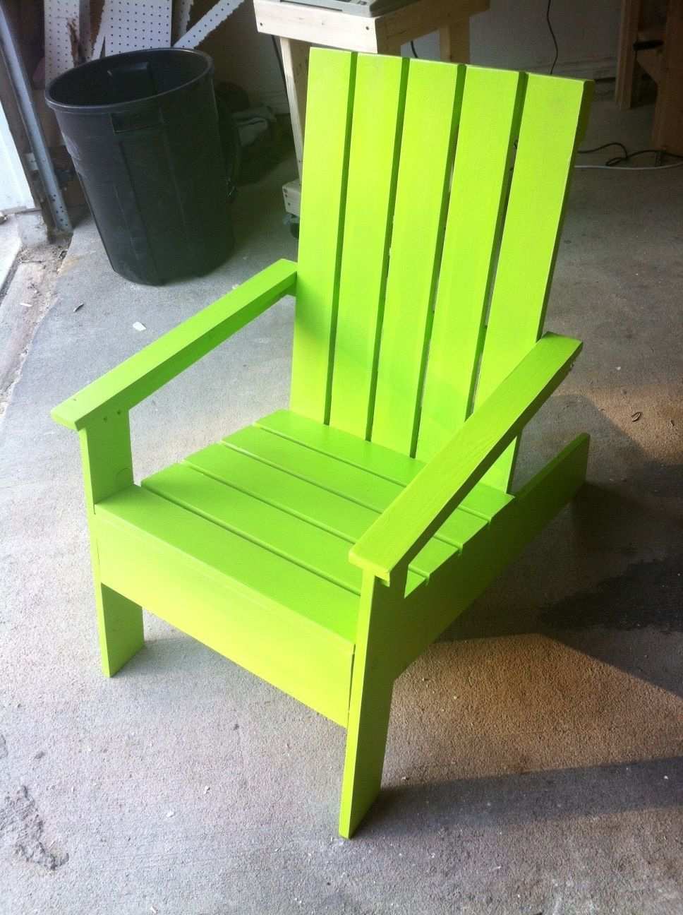 Ana white modish adirondack chair diy projects with