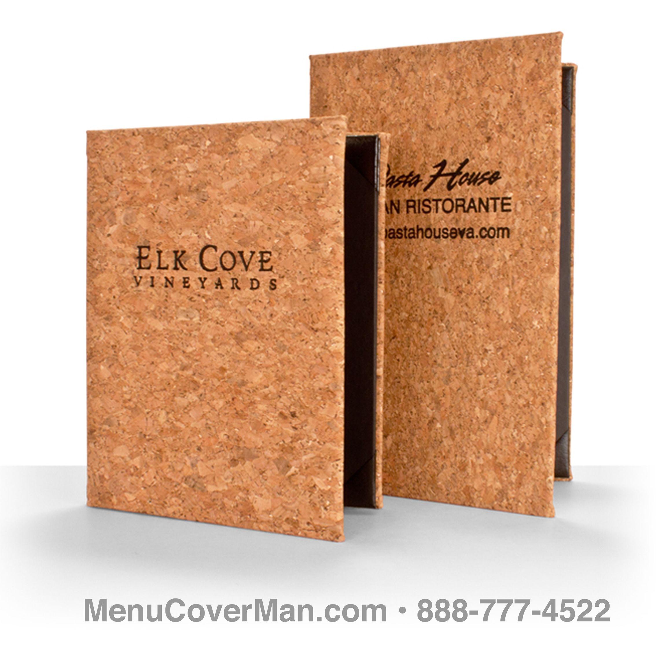 Genuine Mediterranean Cork Restaurant Menu Covers Menu Cover Restaurant Menu Covers Menu Restaurant