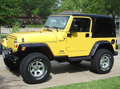 Jeep Wrangler Sport Jeep Wrangler Sport Jeep Wrangler Yellow