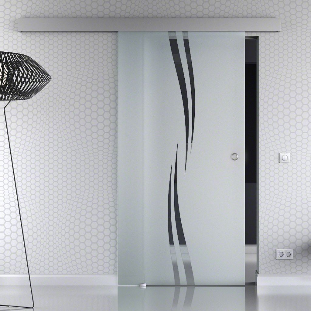 Glasschiebetur Basic Opt Softclose 1 Flg Design Dekor