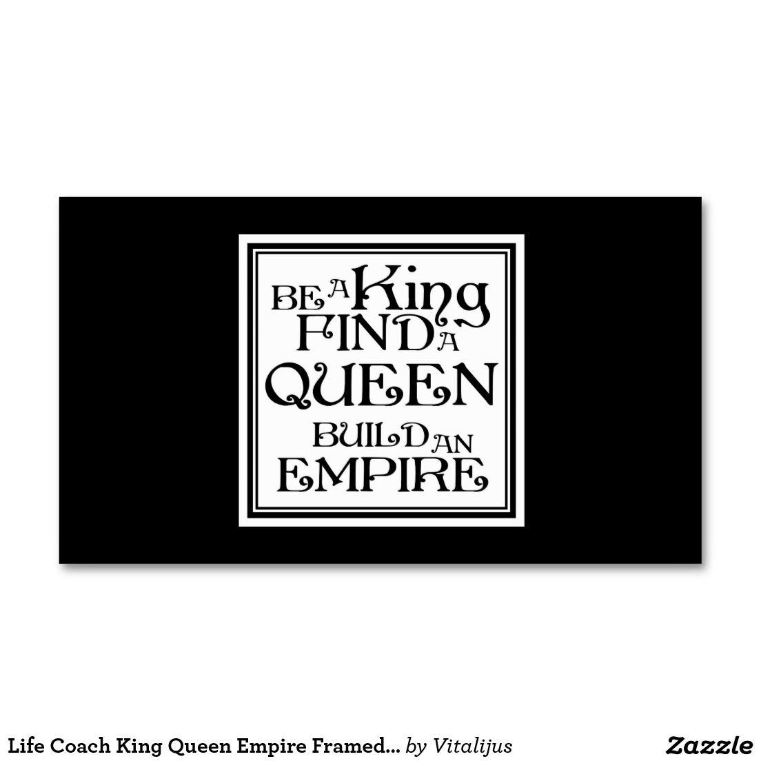 Life coach king queen empire framed phrase card pinterest life coach king queen empire framed phrase card business card colourmoves