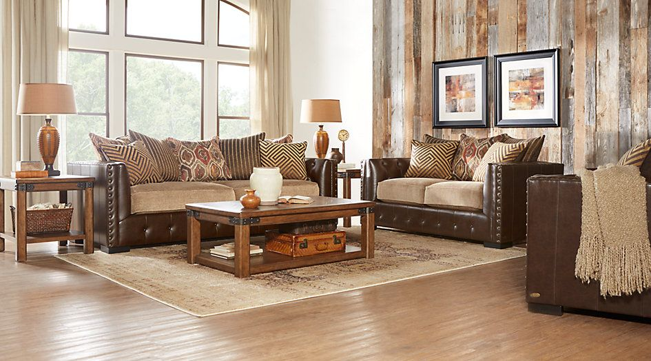 Eric Church Highway To Home Hickory Canyon Brown 5 Pc Living Room
