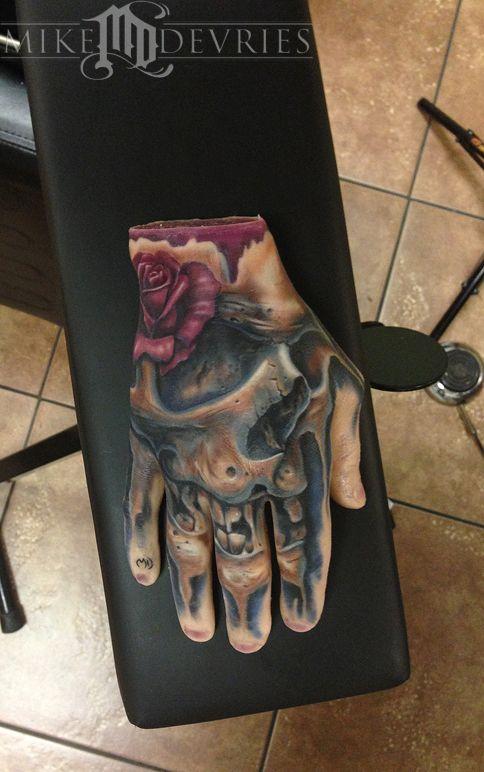 Mike Devries Tattoos Realistic Real Tattoo On Fake