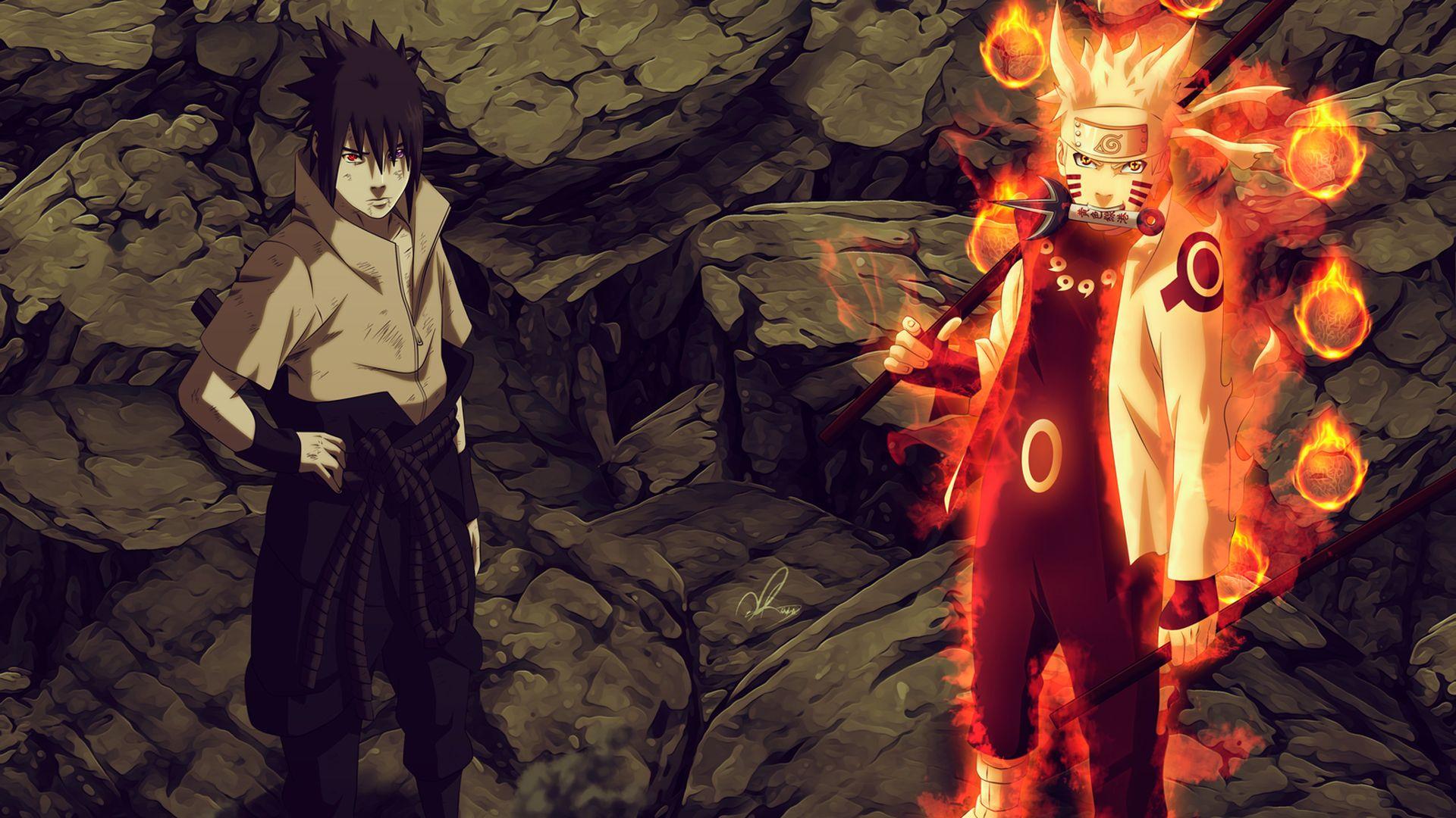 Naruto In Sage Of Six Paths And Sasuke With Rinnegan Naruto And Sasuke Wallpaper Wallpaper Naruto Shippuden Naruto Wallpaper