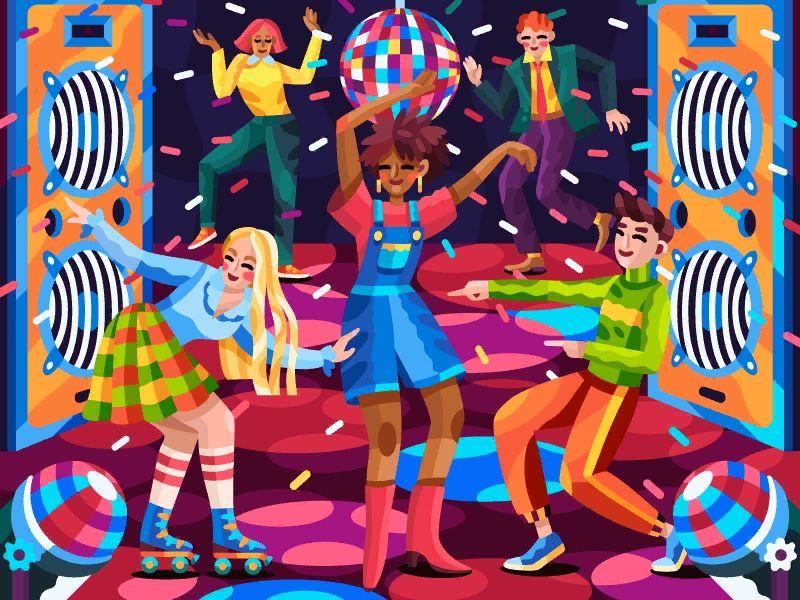 Disco Night In 2020 Disco Night Coloring Books Book Decor