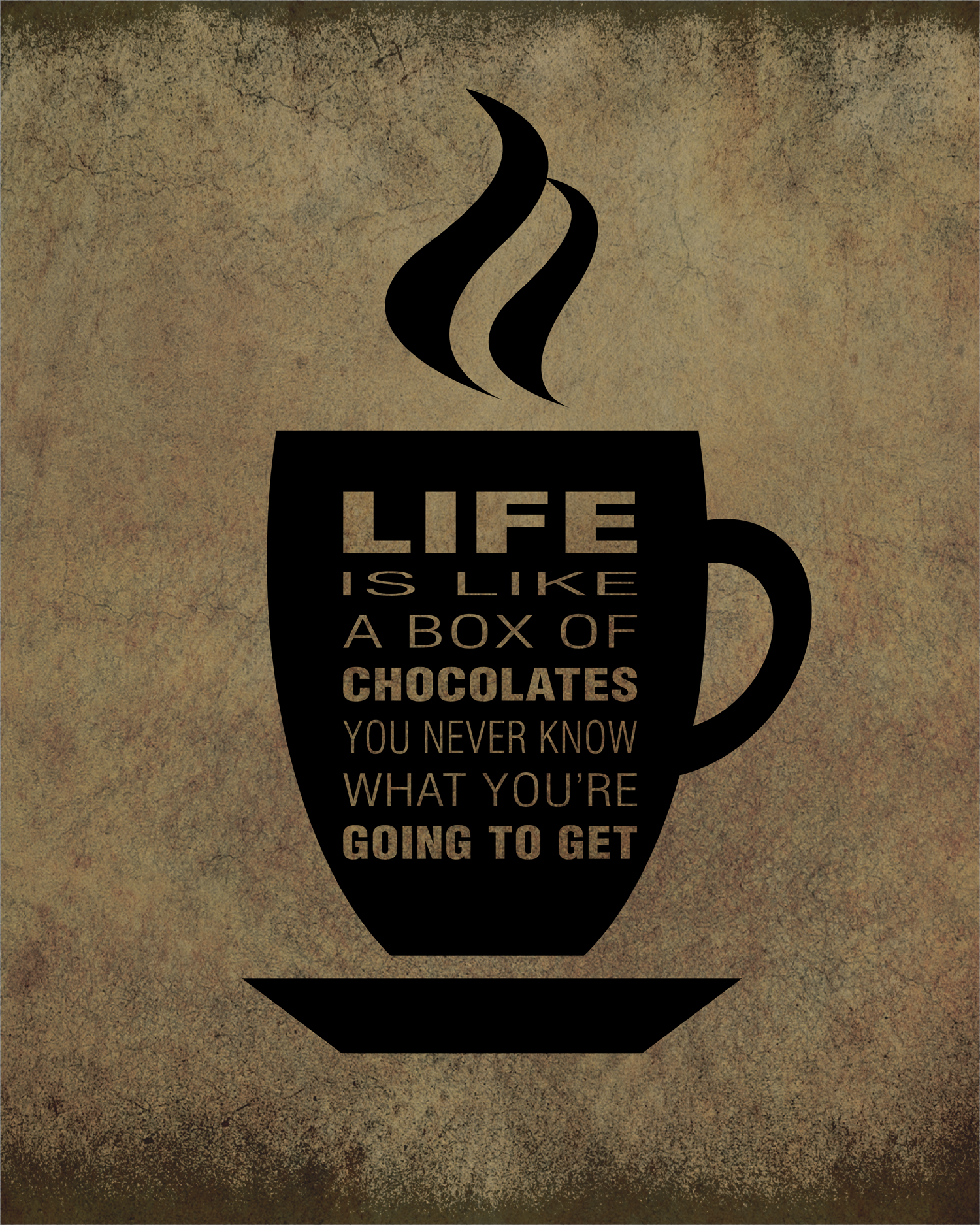 Buy Forrest Gump Quote (LIFE IS LIKE A BOX OF CHOCOLATES) at Song ...
