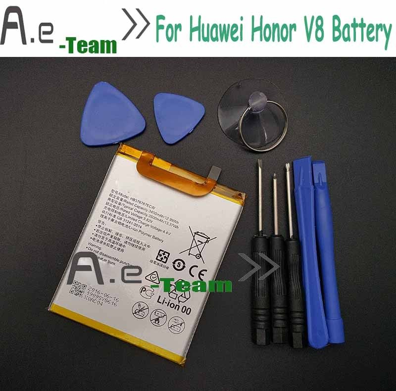 3400mAh HB376787ECW Battery For Huawei Honor V8 High Quality Li-Polymer Replacement Battery for Huawei Honor V Batterie Batterij #Affiliate