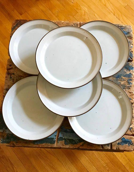 70s Dansk Denmark Generation Brown Mist Dinner Plates Set Of 6 Classic Dinnerware Dinner Plate Sets Dinner Plates