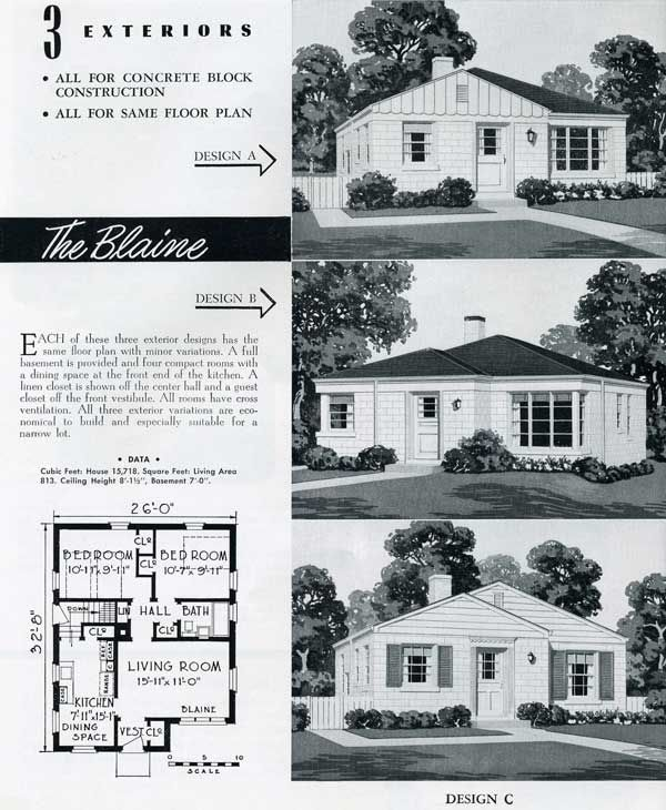1949 National Homes: The Blaine (very typical of small p… in ... on jungle home design, country home design, practical home design, federal home design, western home design, metropolitan home design, northwest home design, american home design, midwestern home design, nordic home design, federalist home design, presidential home design, global home design, ecological home design, regal home design, contempary home design, modern home design, virtual home design, midwest home design, heritage home design,