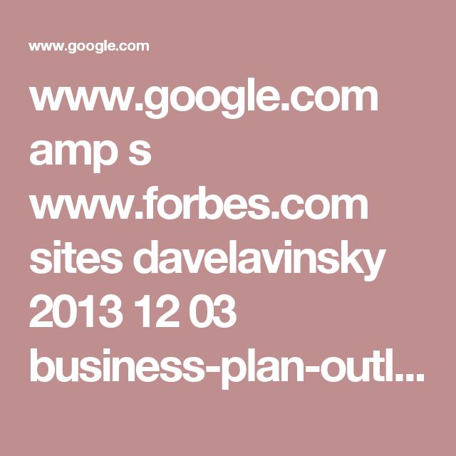 WwwGoogleCom Amp S WwwForbesCom Sites Davelavinsky
