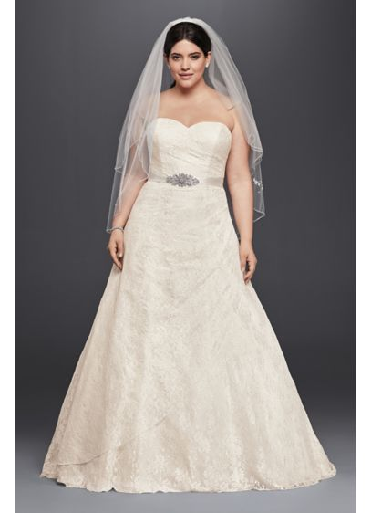 Plus size tan wedding dresses