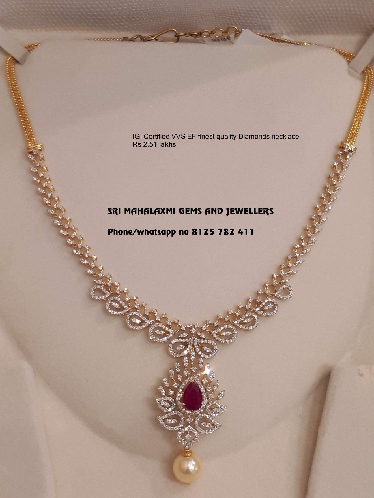 Sri Mahalaxmi Gems And Jewellers Present A Very Simple And Beautiful Design Of Ig Pretty Gold Necklaces Gold Jewellery Design Necklaces Jewelry Design Necklace