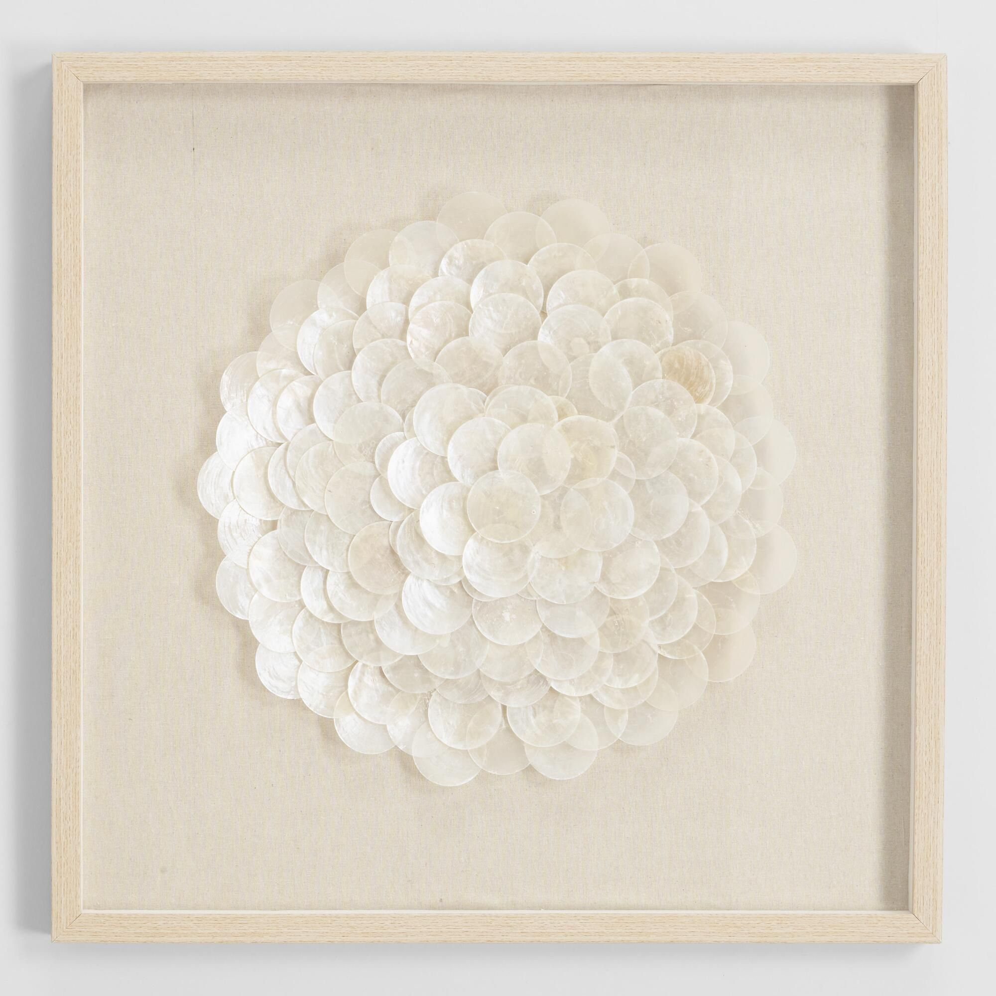 Capiz Shell Shadow Box Wall Art By World Market Shell Crafts Diy Shell Crafts Seashell Crafts