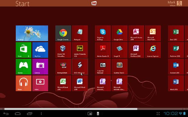 desktop view