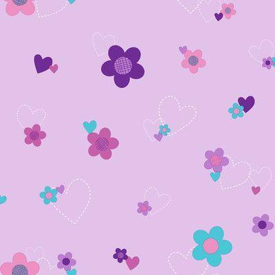 "York Wallcoverings Walt Disney Kids II Flower and Hearts 33' x 20.5"" Floral Wallpaper Color:"