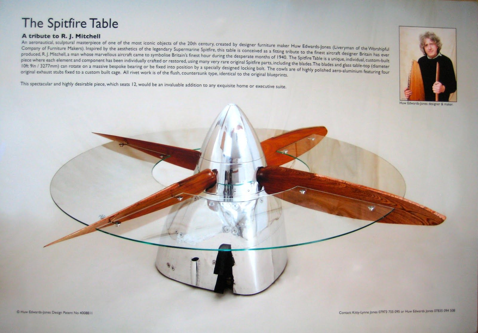 Propeller Coffee Table Aviation Furniture Aviation Decor Bar
