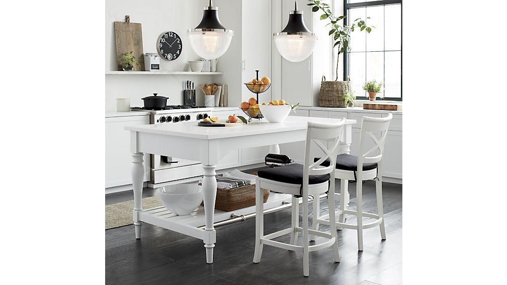 Vintner White Bar Stool Crate And Barrel White Counter Stools Grey Kitchen Designs Modern Grey Kitchen