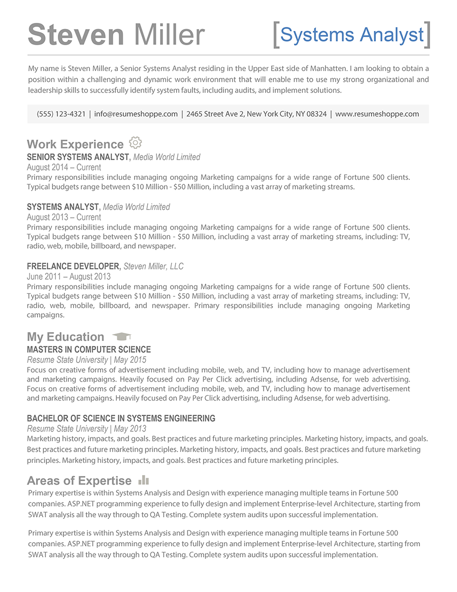 resume for ceo position