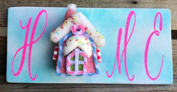 Christmas Wreath Attachment, Christmas Wood Sign, Candyland Decor, CandyLand Wreath Sign, Home wood sign, Christmas Home Sign #candylanddecorations