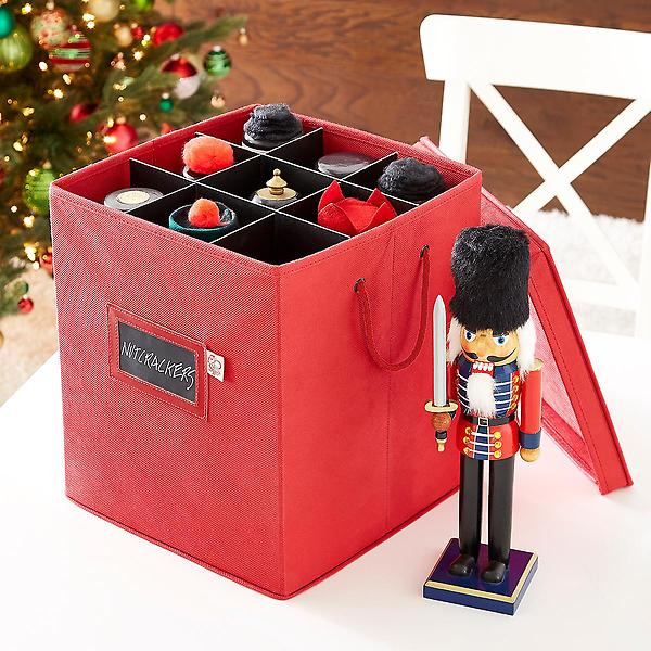 Tall Collectible Storage Box The Container Store Holiday Storage Christmas Storage Storage
