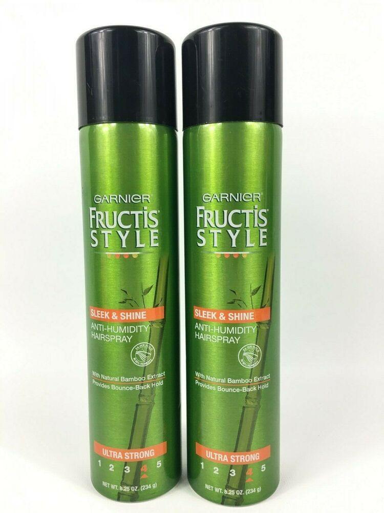 Garnier Fructis Style Sleek And Shine Anti Humidity Hairspray 8 25oz 2 Pack Garnierfructis Anti Humidity Hair Spray Hairspray Face Cream For Wrinkles