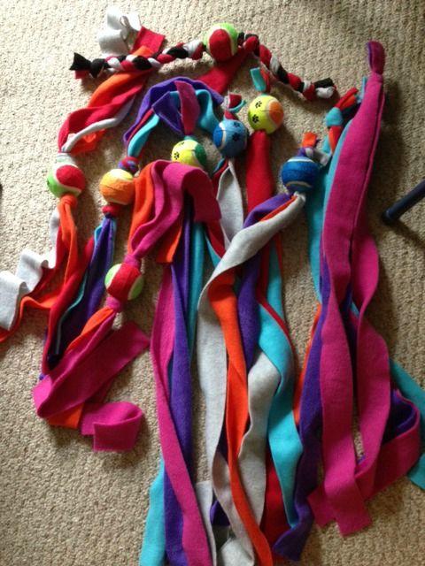 No Sew Fleece Dog Toys Dog Toys Homemade Dog Toys Diy Dog Toys