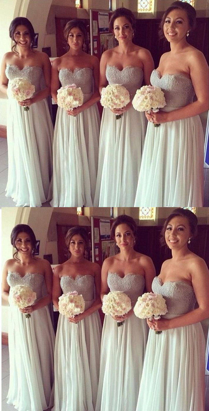 Discount alineprincess bridesmaid dresses long white dresses with