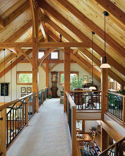 Hillside Timber Cottage Timber Frame Home Loft Rustic Home Design Timber House Rustic House