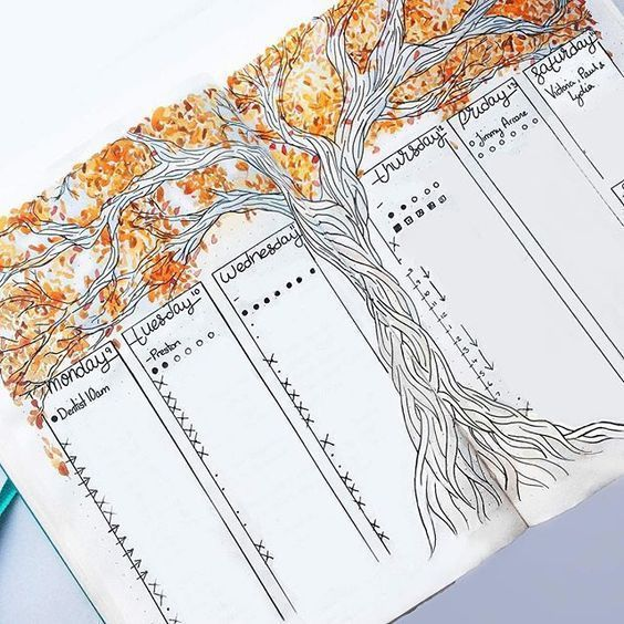 rachelmay46 Autumn is out in full force in my planner right now - #Autumn #force #full #goals #Planner #rachelmay46 #scrapbook