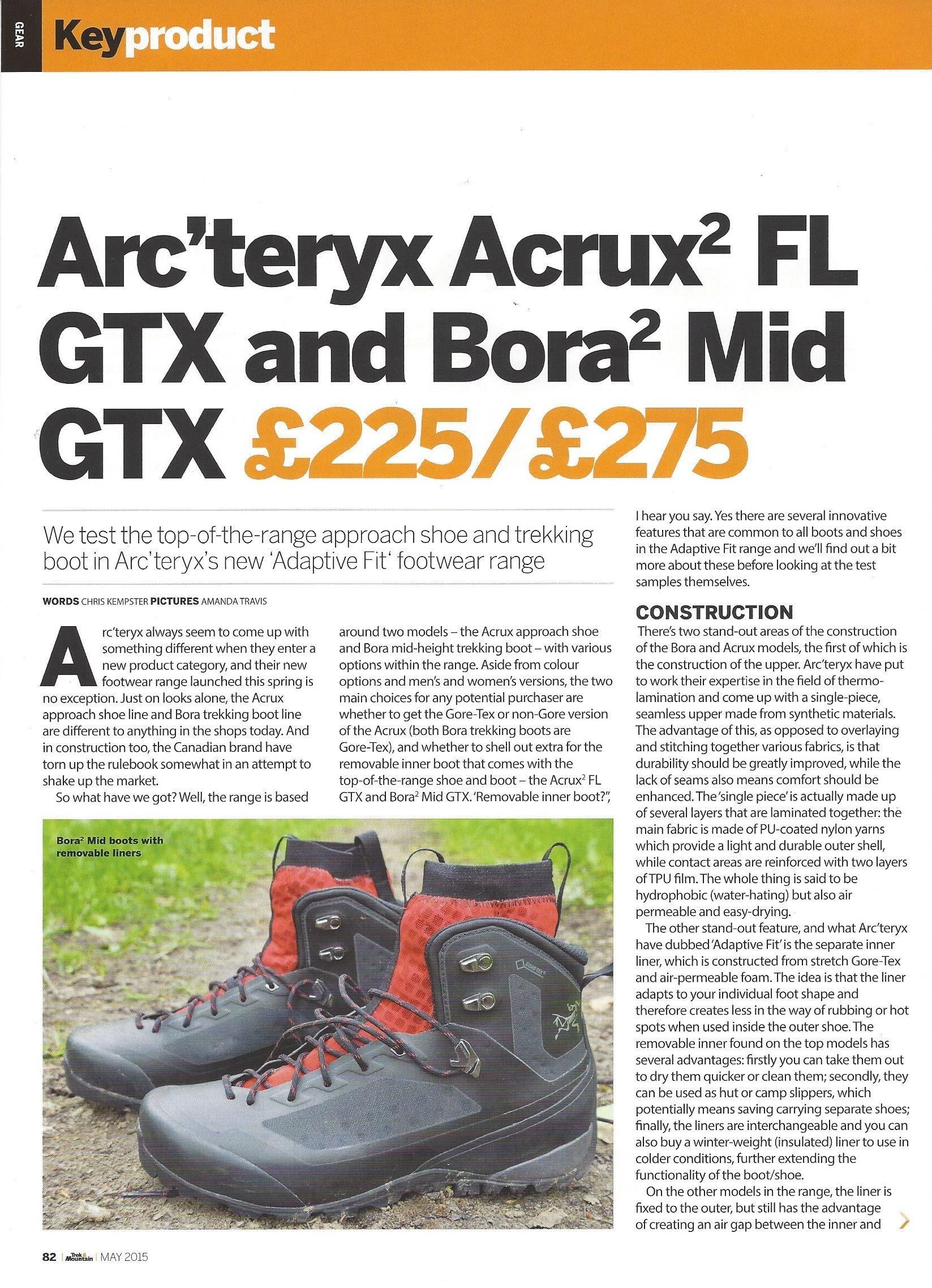 Arc'teryx Trek & Mountain May 2015 Acrux² FL GTX and