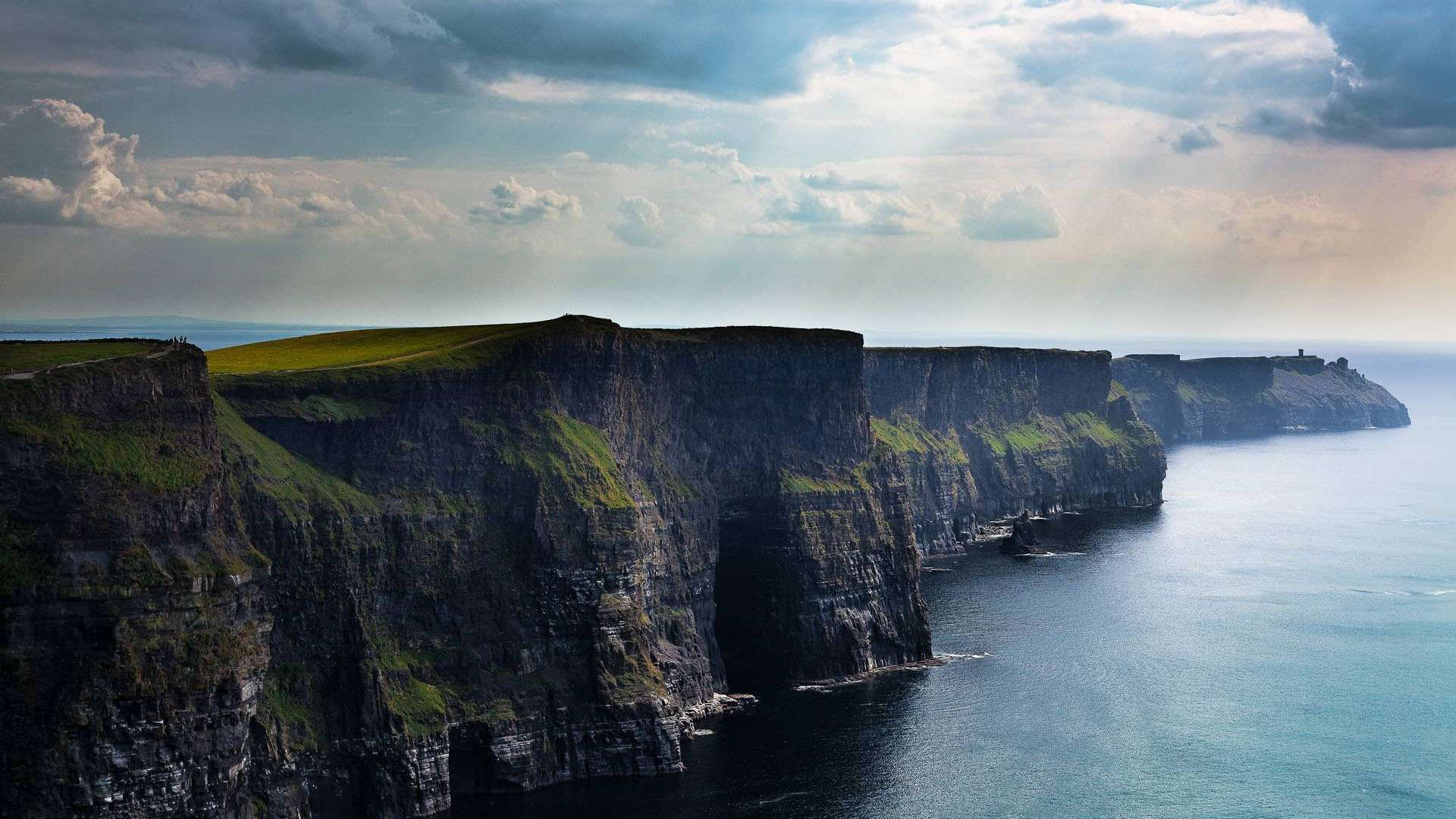 The Cliffs Of Moher County Clare Ireland Hd Wallpaper Landscape Wallpaper Cliffs Of Moher Irish Landscape