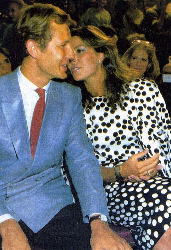 Princess Caroline of Monaco and Stefano Casiraghi at Christian Dior fashion show.1985.