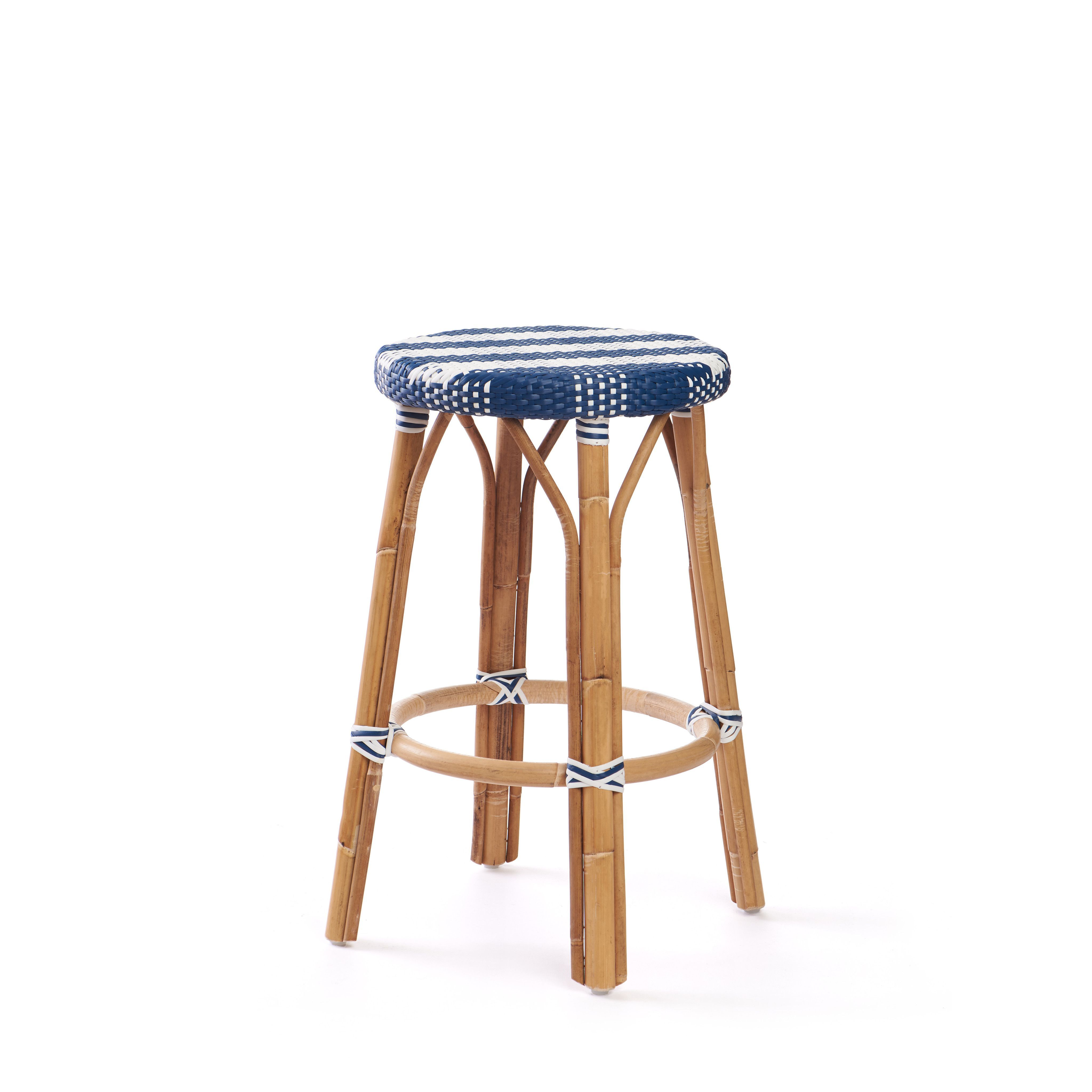 Backless Counter Stool In Navy Counter Stools Backless Patio Bar Stools Stool