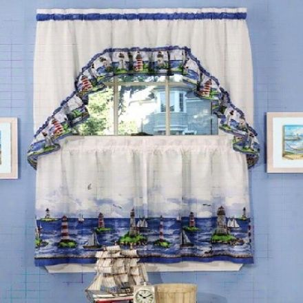 Lighthouse Bathroom Decor Nautical Curtains Ebay Electronics