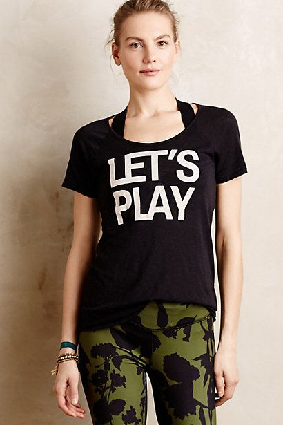 Let's Play Tee #anthropologie