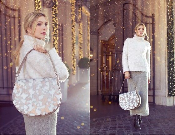 Get this look: http://lb.nu/look/8535503  More looks by Eleonora: http://lb.nu/thefashionscreen  Items in this look:  La Crì La Patta Bag, Zara White Sweater   #chic #sporty #street #christmas #holidayoutfit #winter #snow